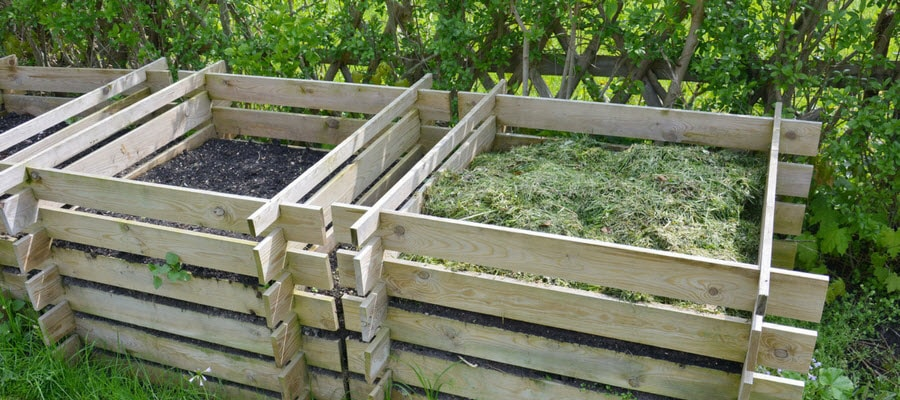 Compost Bins in the Landscape