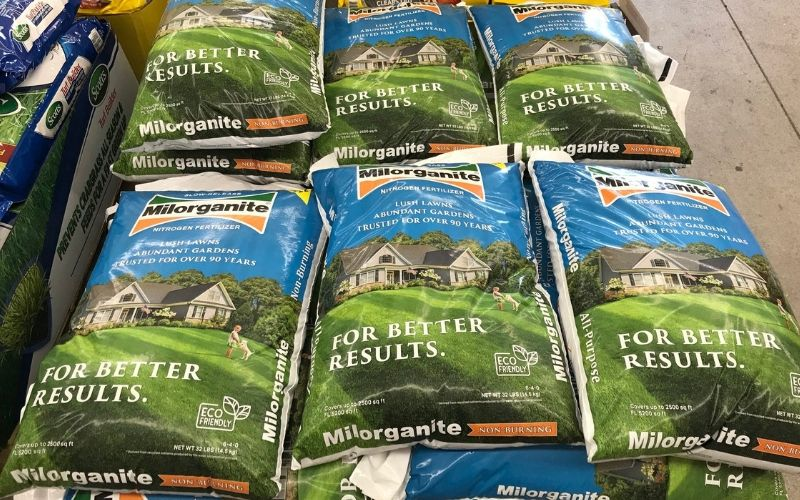 bags of Milorganite