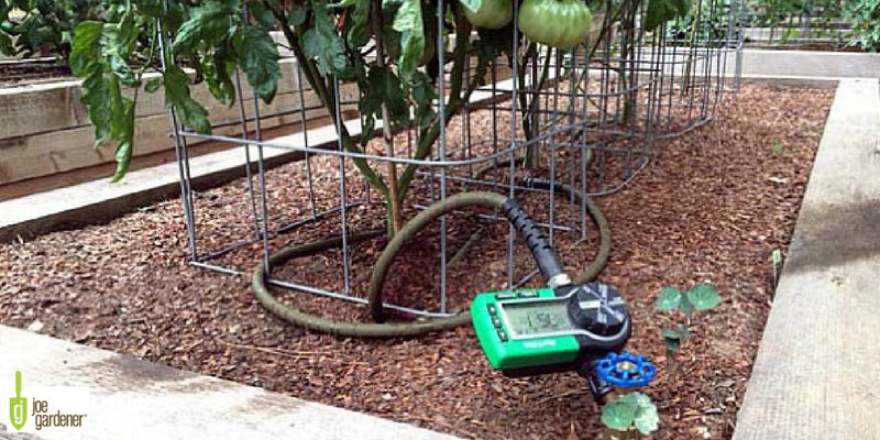 Watering timer in the garden