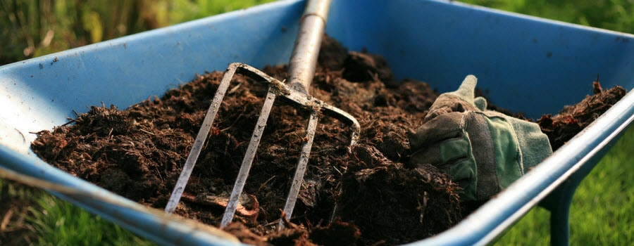 Compost in a Wheel Barrel