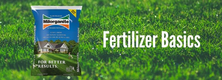 Fertilizer Basics with a bag of Milorganite on a lawn