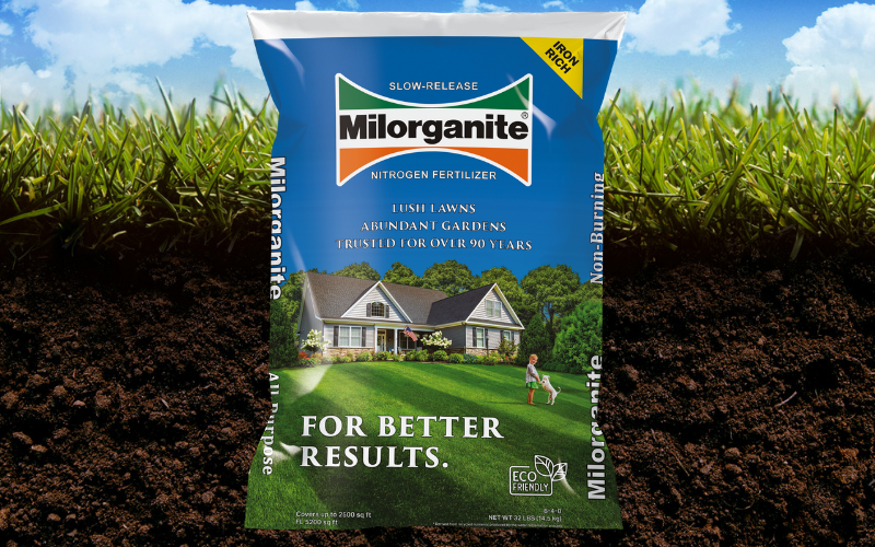 Use Milorganite to fertilize your lawn, this guide will help you with application rates and schedule.