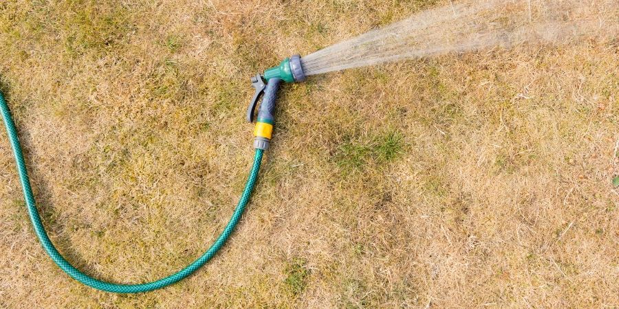 Don't over water in drought conditions