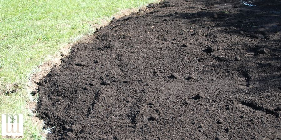 amended soil near lawn
